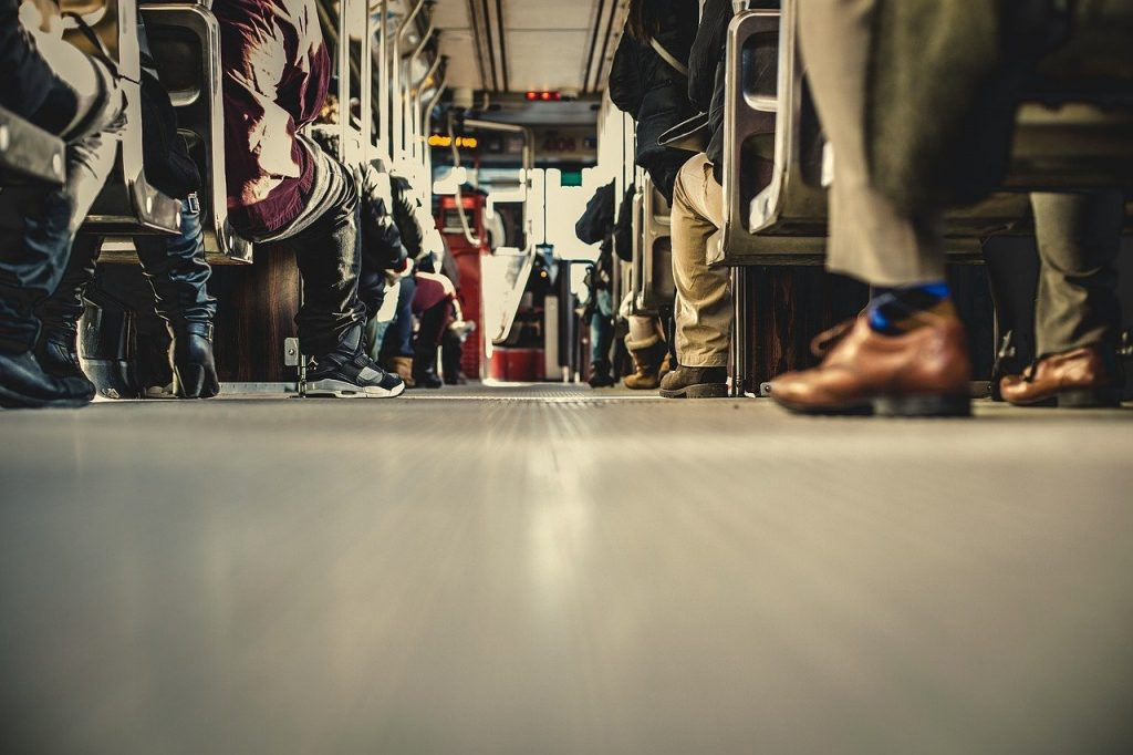 bus, transportation, people