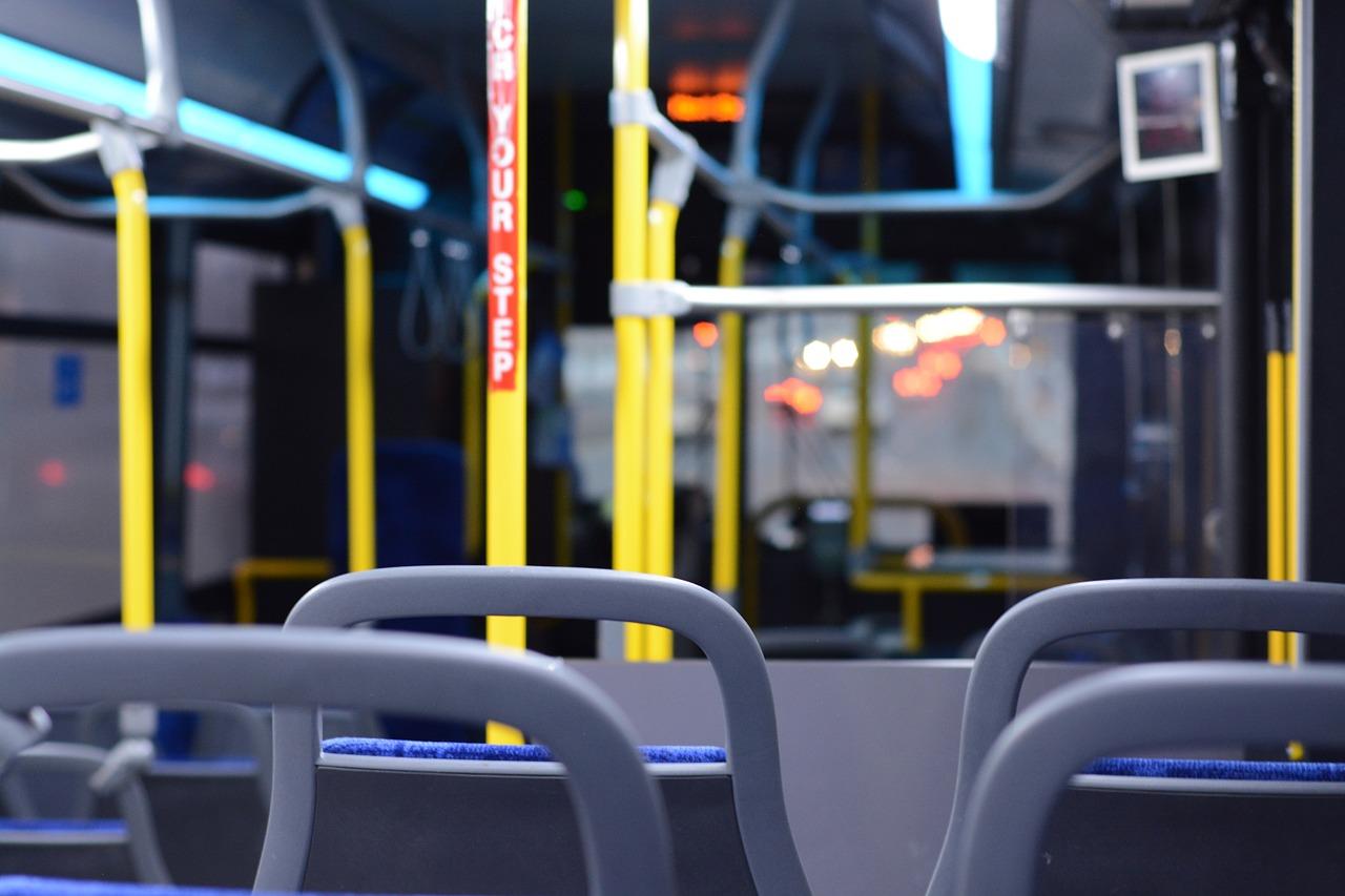 bus, inside, empty
